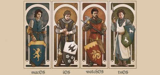 4 silahşör: macOS, iOS, watchOS, tvOS