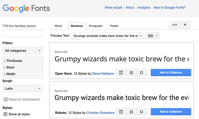 Google Font eski tasarımı