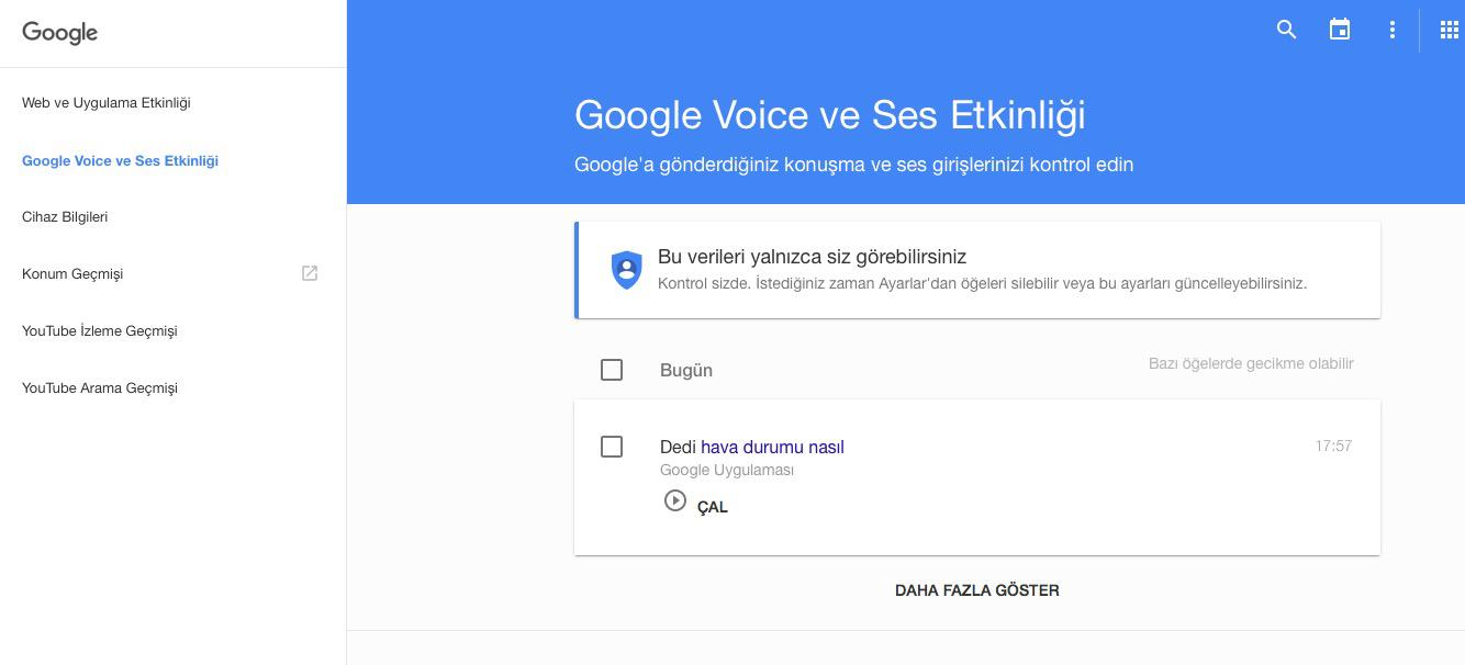 Google sesimizi kaydediyor