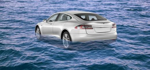 Tesla yüzebiliyor