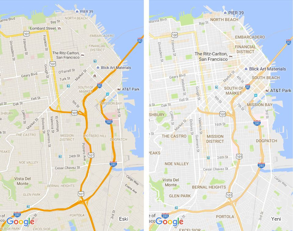 Google Maps Eski / Yeni