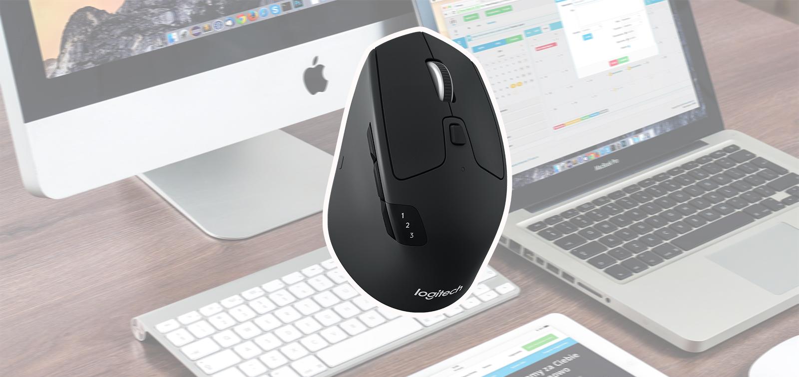 Logitech M720 Triathlon Multi-device Wireless Mouse - Black