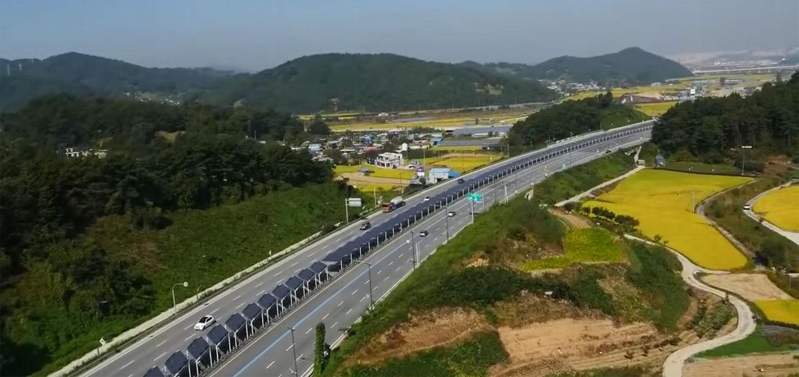 Güney Kore'de 32 km'lik bisiklet yolu güneş panelleri sayesinde hem gölgede kalıyor hem de enerji sağlıyor